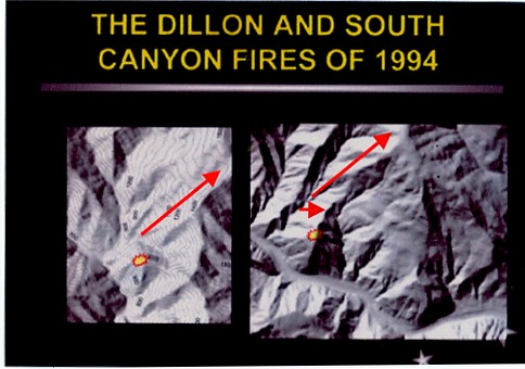 Dillon 8/14/1994 South Canyon 7/6/1994 Figure 4. Dillon and South Canyon Fire Comparison